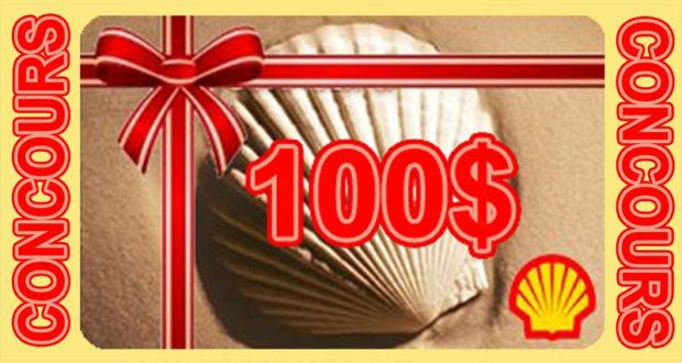 Carte Shell d'une valeur de 100$
