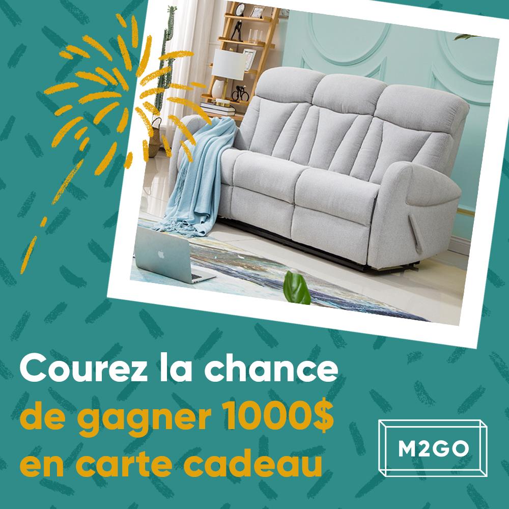 Concours Québec - Une carte cadeau M2GO