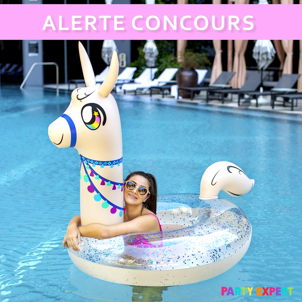 Un flotteur de piscine offert par Party Expert