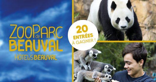 5 x 2 entrées pour le zoo du Parc de Beauval
