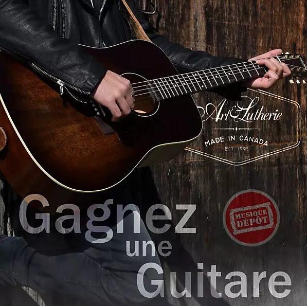 Une magnifique guitare art & lutherie