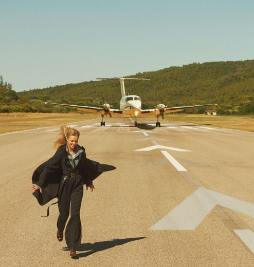 1 lot de 2 vols en jet privé