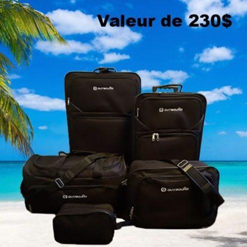 Un ensemble de 5 valises