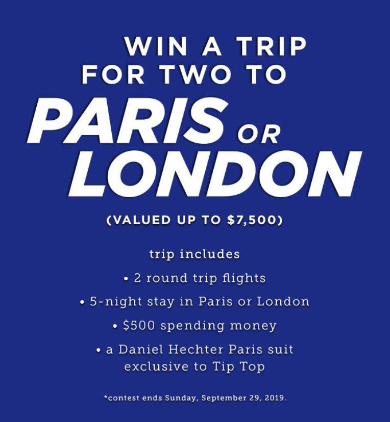 Gagnez un Voyage à Paris ou à Londres