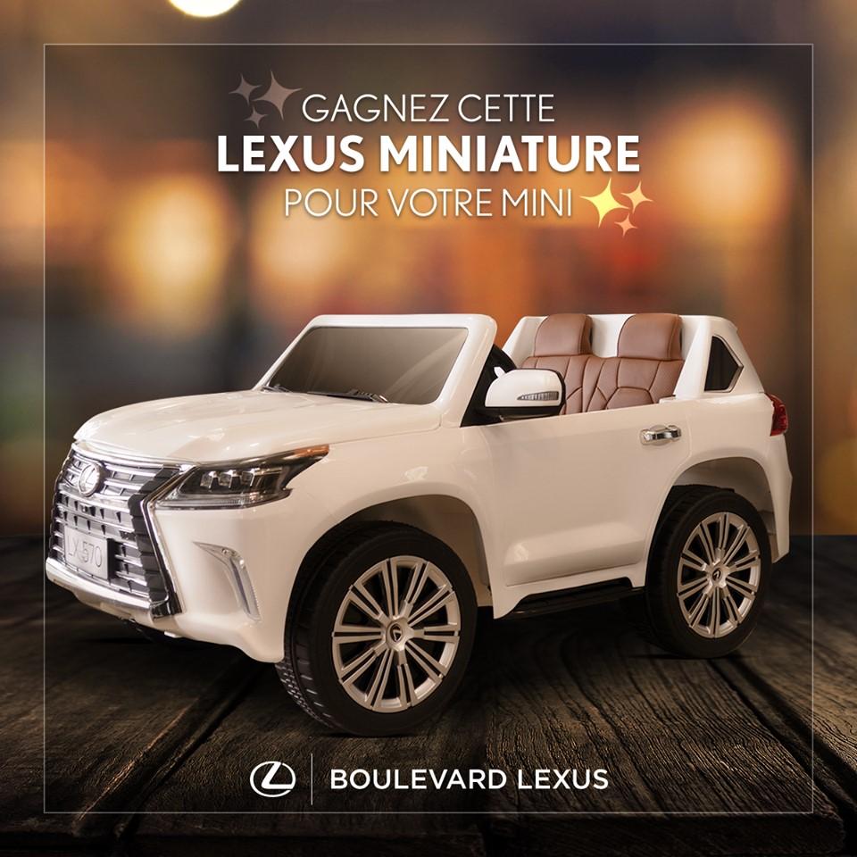 Une Lexus Miniature Offerte Par Boulevard Lexus