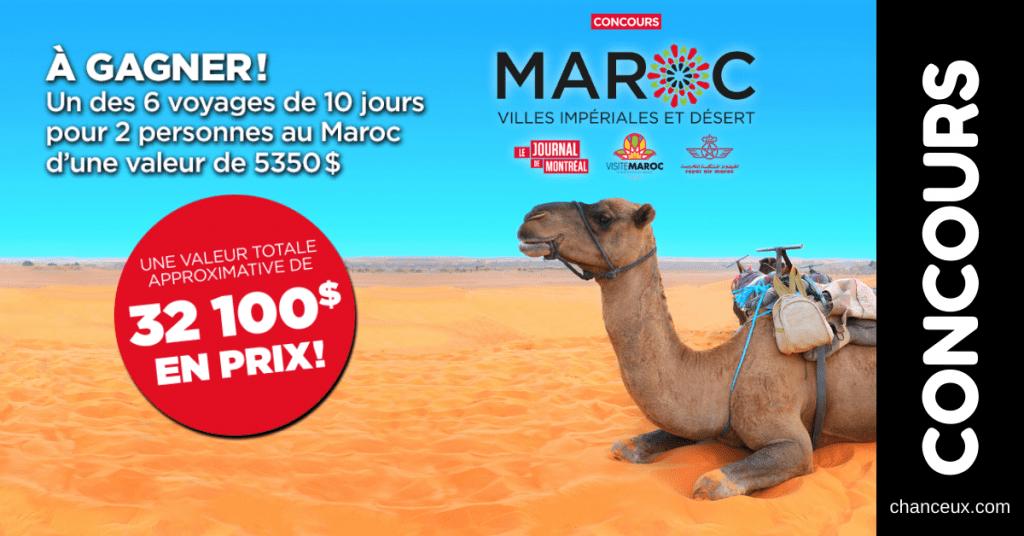 Concours Québec - Gagnez 6 Voyages De 10 Jours Pour 2 Personnes Au Maroc