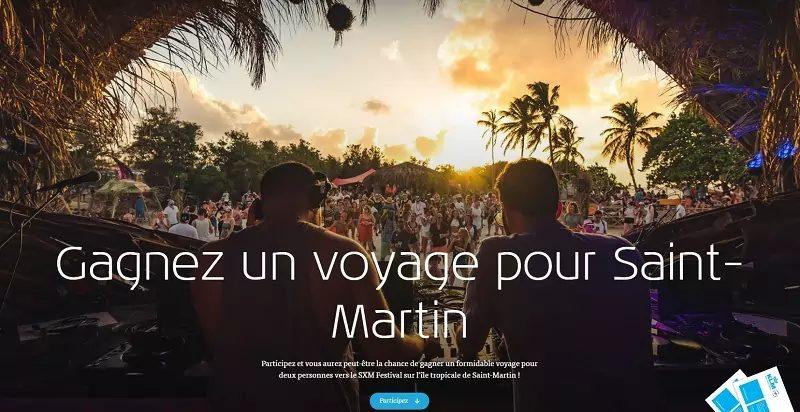 Un Voyage Pour Deux Personnes Vers Le Sxm Festival