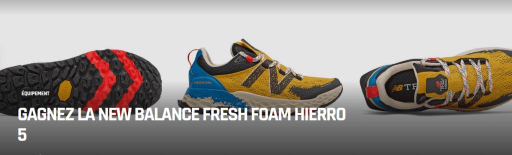 1 paire de chaussures de trail New Balance