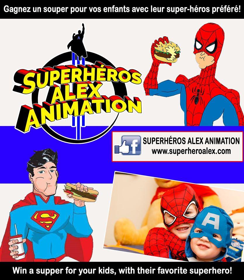 Gagner Un Souper Payé Avec Le Super-héros Préféré