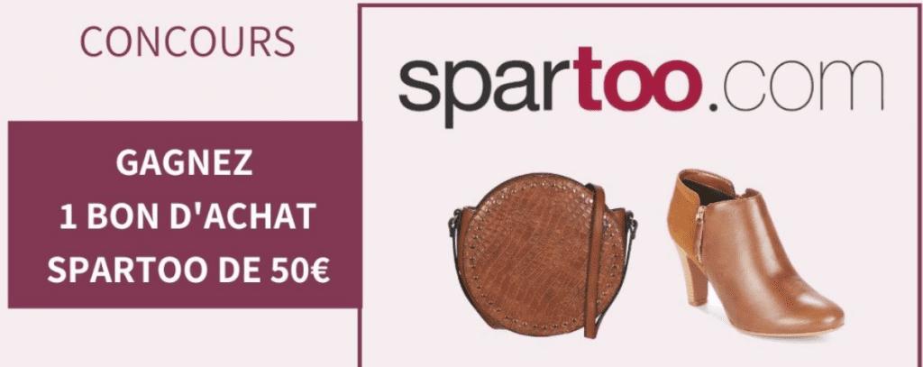 10 bons d'achats Spartoo de 50 euros