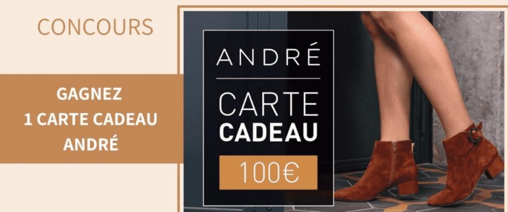 Gagnez 15 cartes cadeaux André