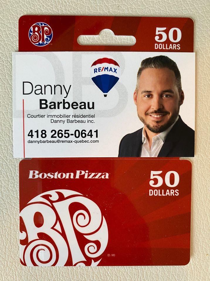 Carte Cadeau De 50$ Chez Boston Pizza