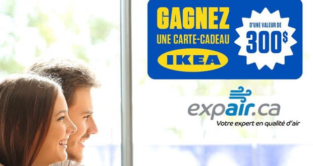 Gagnez une carte cadeux de 300$ chez IKEA