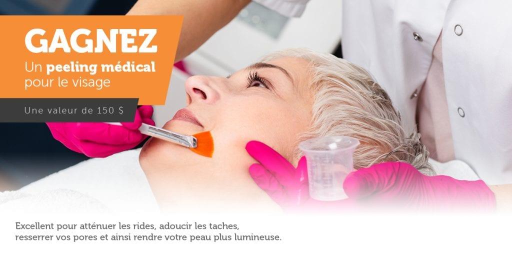 Gagnez un peeling medical pour le visage