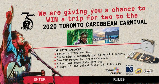 Gagnez un Voyage pour 2 à Toronto pour le Festival Caribana