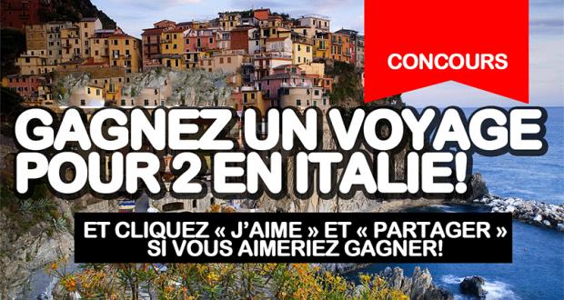 Gagnez un voyage pour 2 personnes en Italie