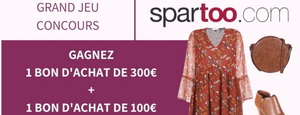 1 bon d'achat Spartoo de 300 euros