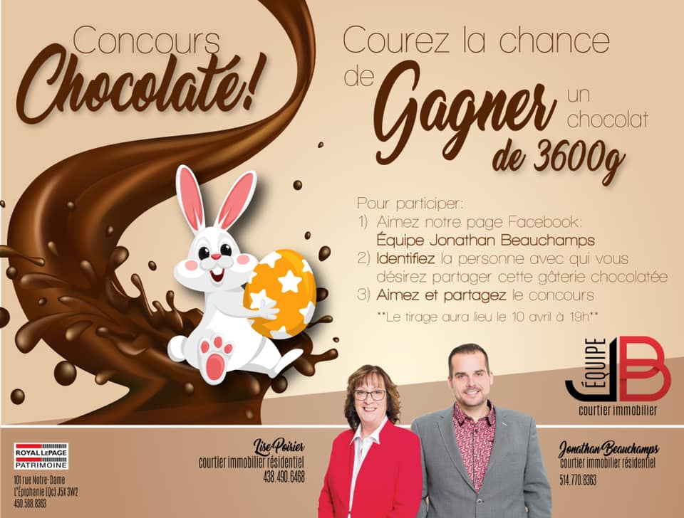 Gagnez Un chocolat de 3600 grammes