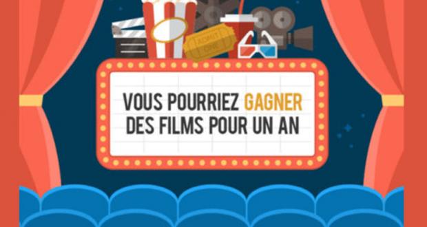 Gagnez Billets de cinéma pour un an
