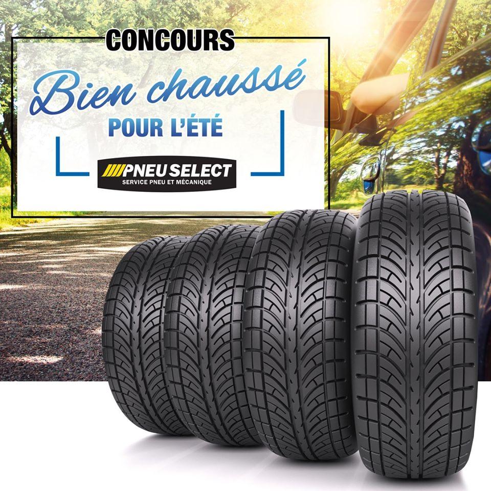Concours Québec - Un ensemble de 4 pneus d'été