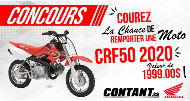 Gagnez une Moto Honda CRF50 2020