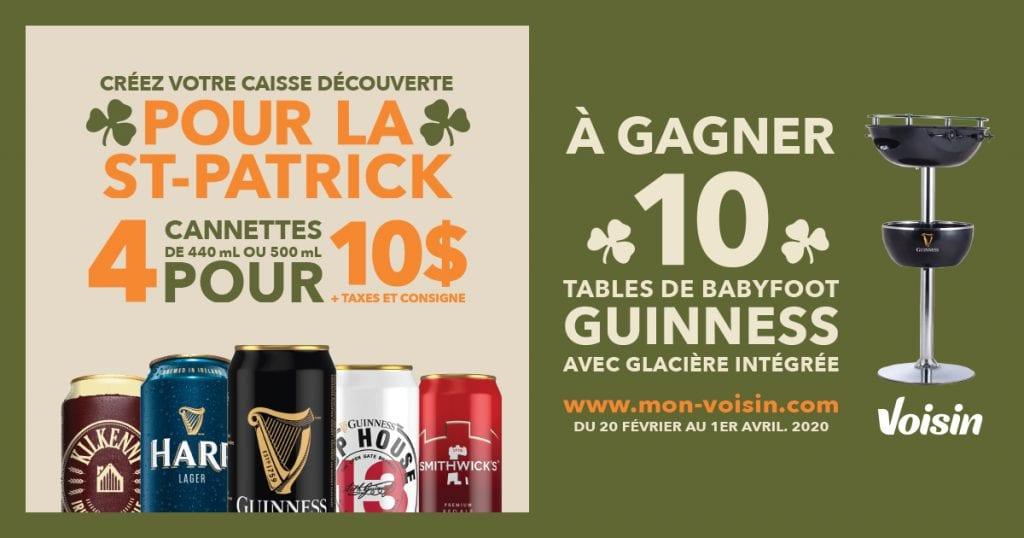 Dix tables de babyfoot Guinness avec glacière intégré