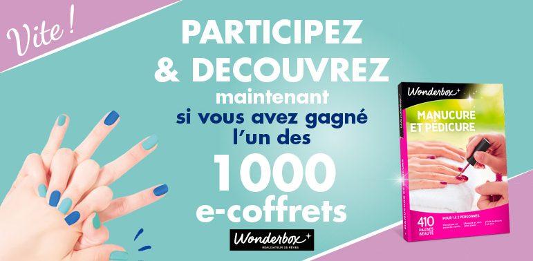 1000 coffrets Wonderbox Manucure et pédicure