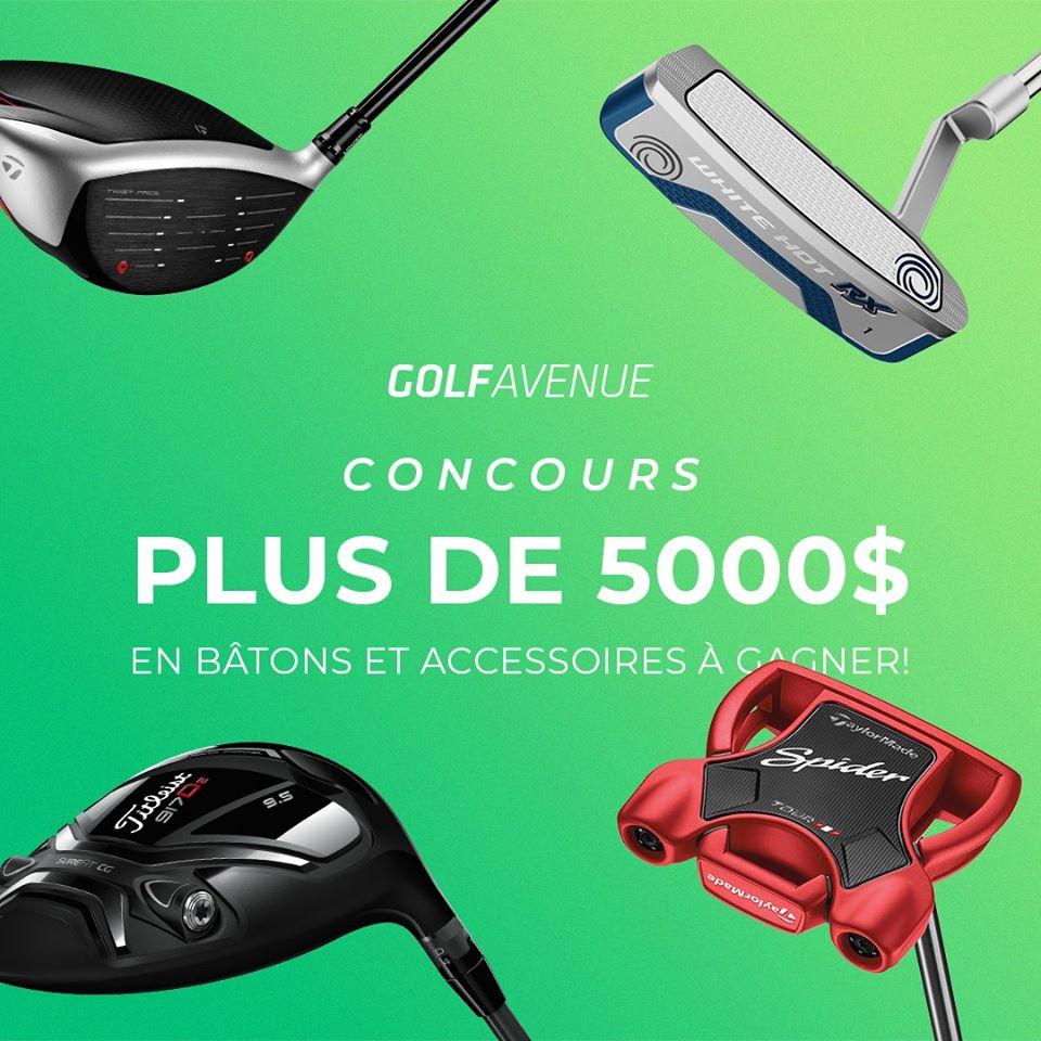 Gagnez 5000$ d'équipement de Golf