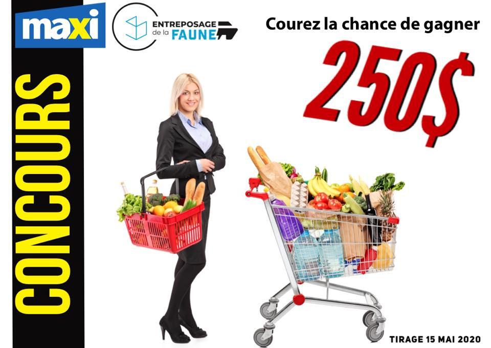 Chance De Gagner 250$ D'épicerie