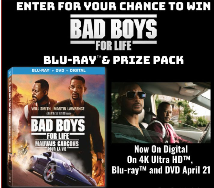 Chance De Gagner Bad Boys For Life Sur Blu-ray