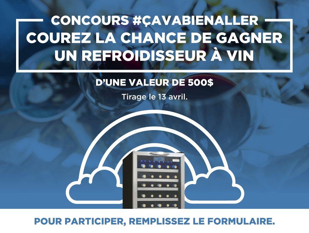Concours Québec - Un refroidisseur à vin d'une valeur de 500 $