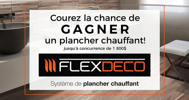Un système de plancher chauffant Flexdeco