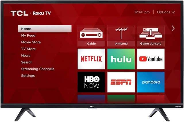 Une Télévision Intelligente TCL Roku De 40″