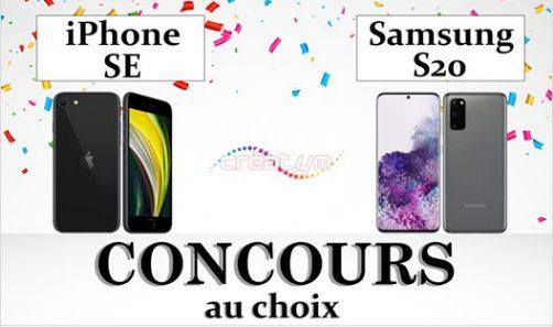 1 iPhone SE 2020 ou 1 Samsung S20