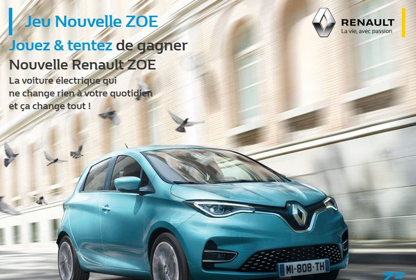 1 voiture modèle Renault ZOE Intens R110