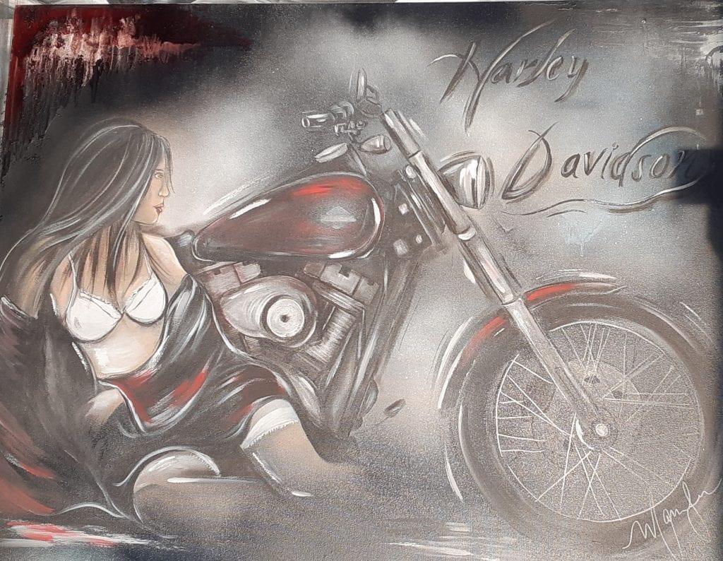Gagnez une toile Harley Davidson
