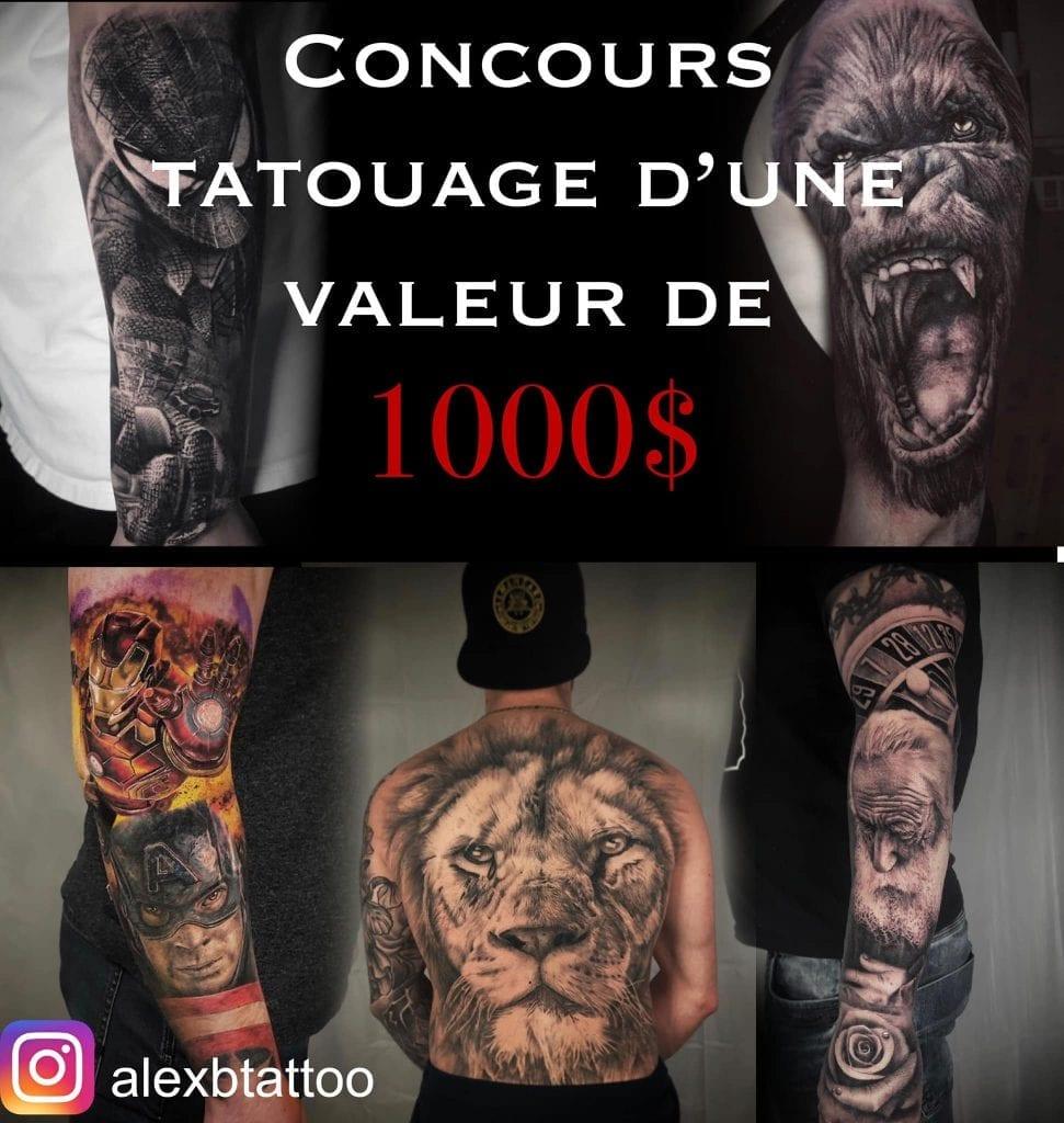 Gagnez un tatouage de 1000 $