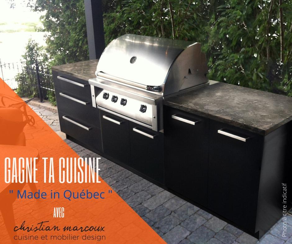 Concours Québec - Gagnez une cuisine extérieure fait au Québec