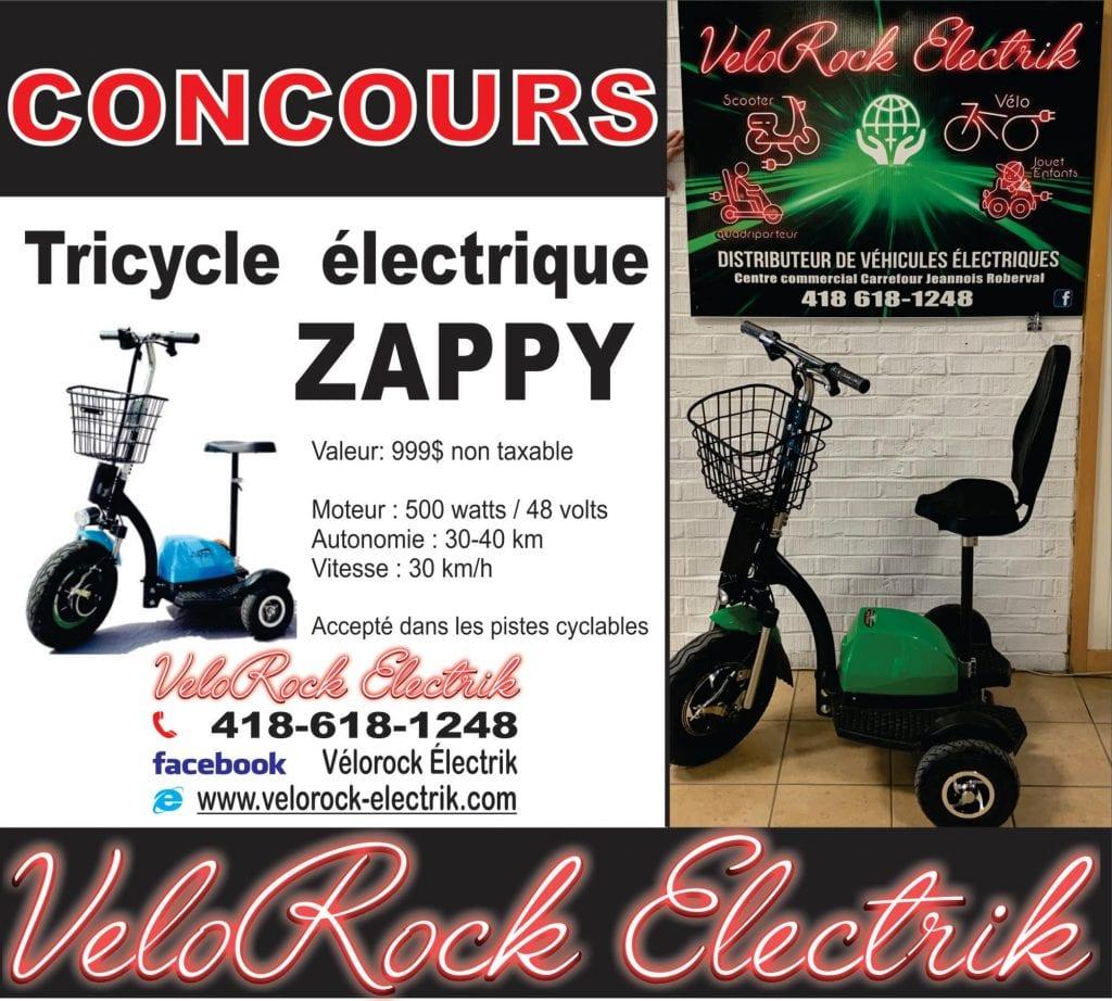 Concours Québec - Un Tricycle Électrique Zappy Pour Adulte