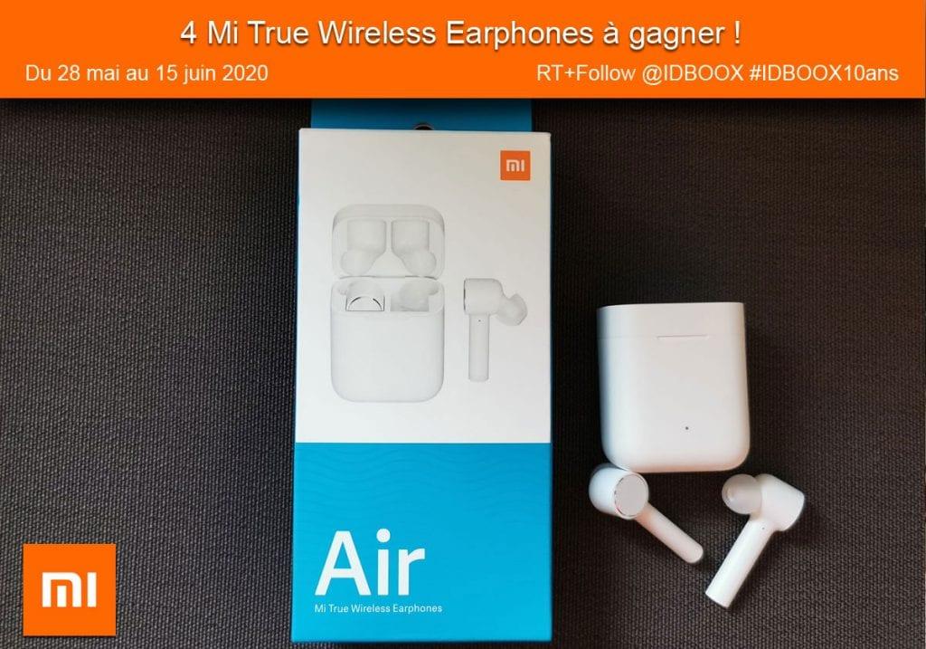 4 paires d'écouteurs Xiaomi Mi True Wireless