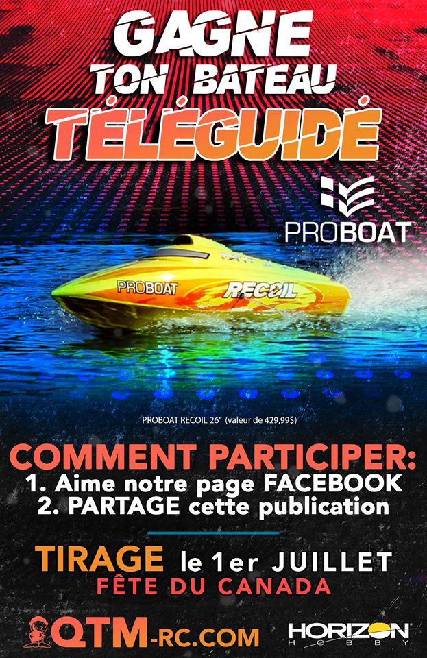 Un Bateau Téléguidé Proboat Recoil