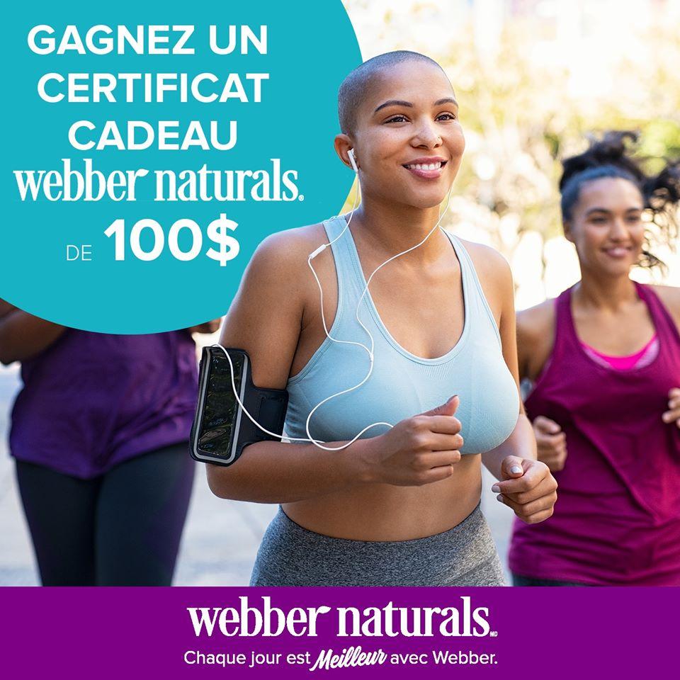 Un Certificat-cadeau Webber Naturals De 100$