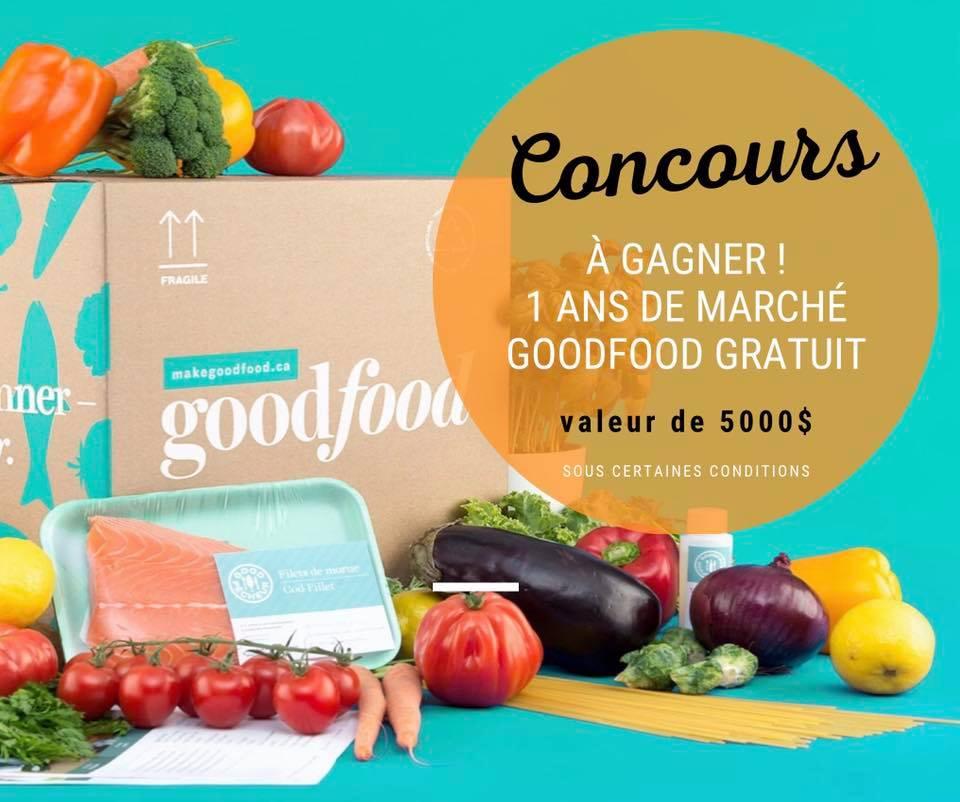 Un An D'épicerie Gratuite Chez Marché Goodfood