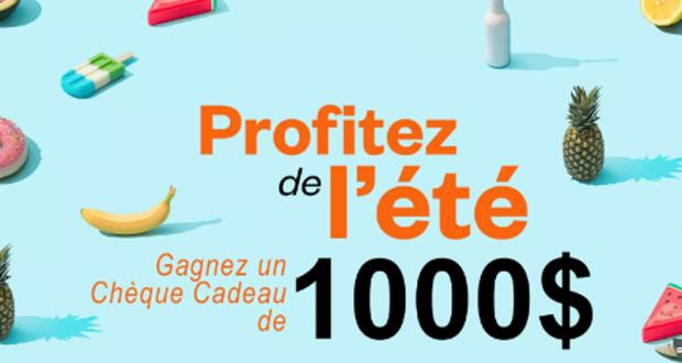 Gagnez Un Chèque-cadeau De 1000 $