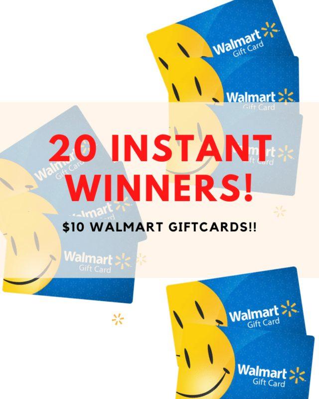 20 Cartes cadeaux Walmart de 10 $