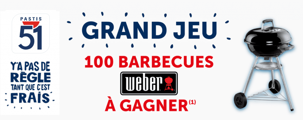 100 barbecues à charbon Weber
