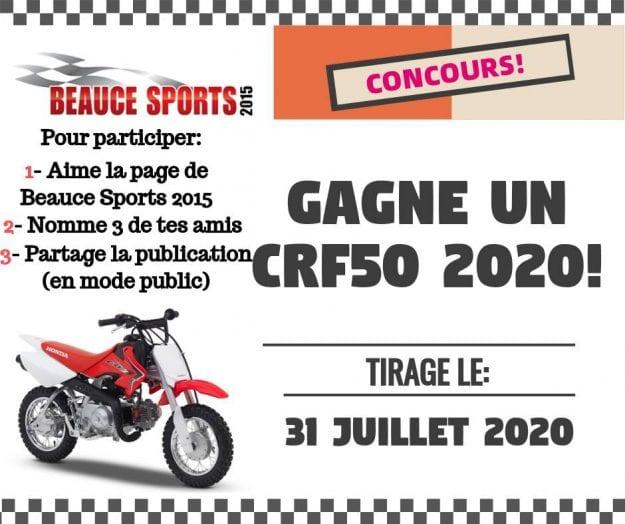 Concours Québec – Gagnez Une moto CRF50 2020