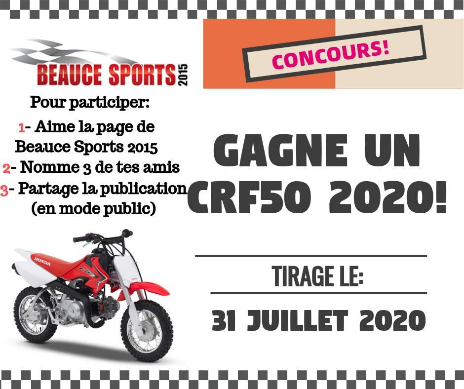 Gagnez Une moto CRF50 2020