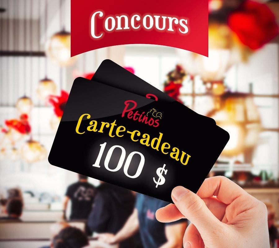 2 Cartes-cadeaux D'une Valeur De 100$