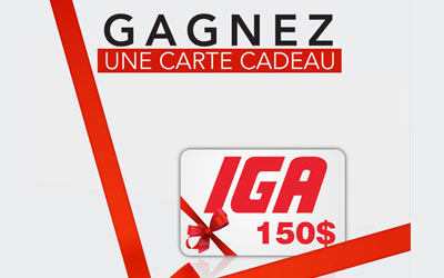 Carte-cadeau de 150$ chez IGA